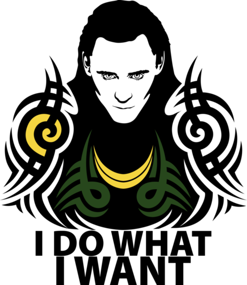 Loki: I Do What I Want vector art