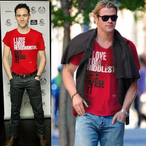 Hiddlesworth: a bromance in T-shirts